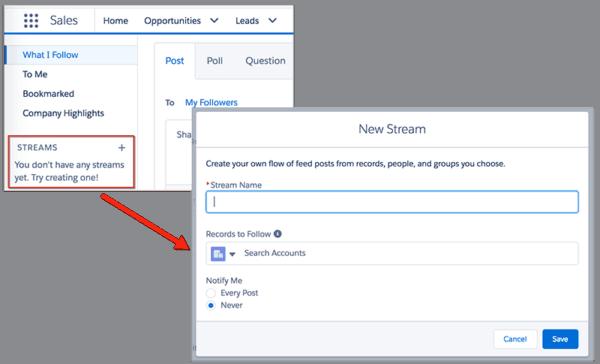 Salesforce Tips n Tricks - Chatter Streams