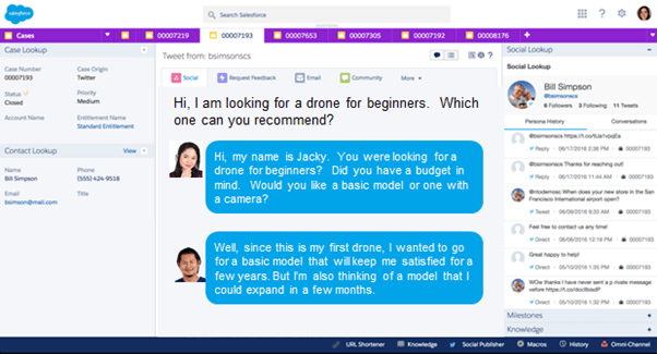Chat with service agent in Salesforce Service Cloud