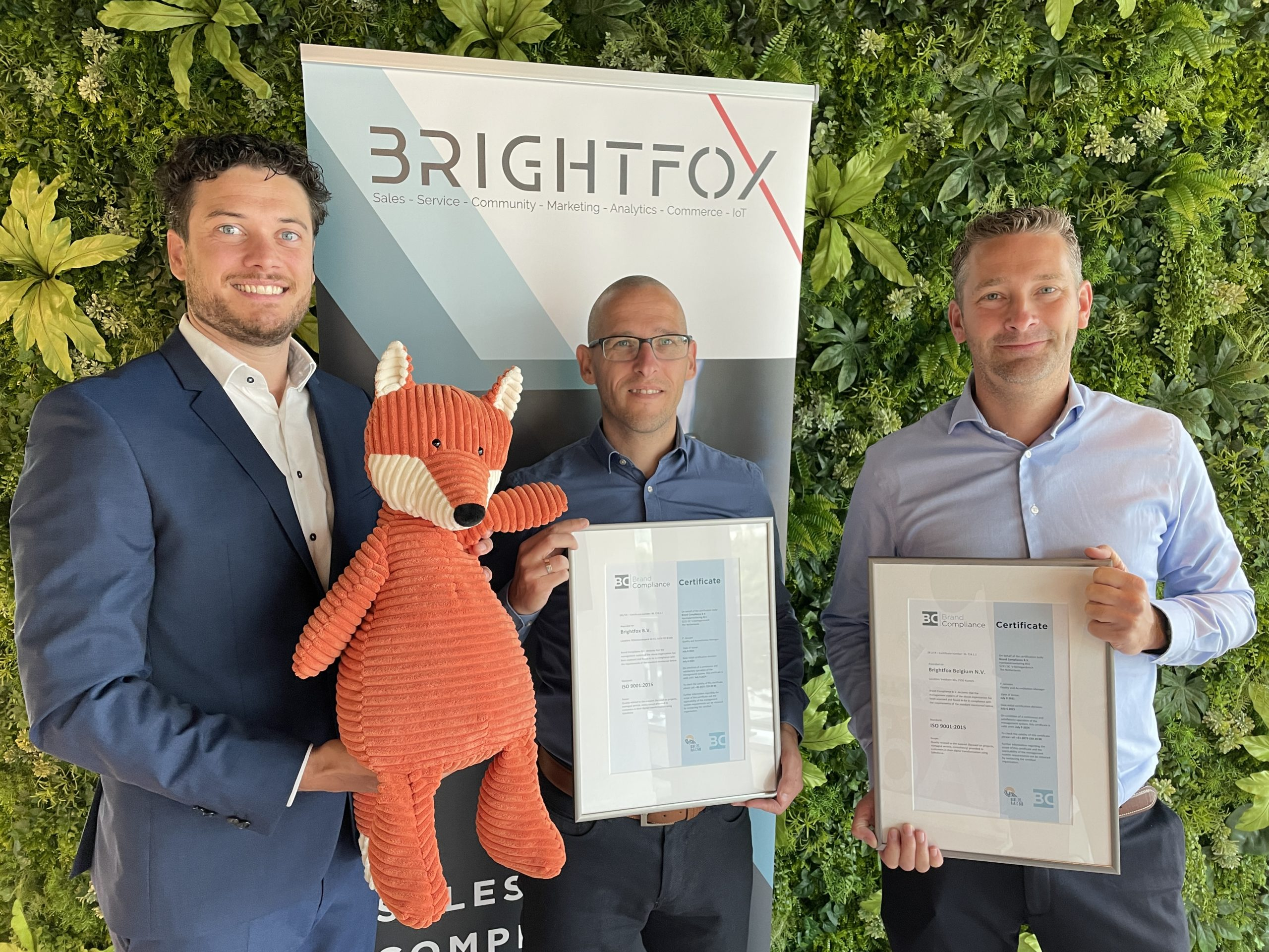 BRIGHTFOX does it again: we are now officially ISO 9001 certified!